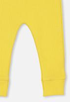Cotton On - Mini rib legging - yellow