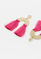 Superbalist - Molly tassel earrings - pink