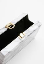 Superbalist - Marbled clutch bag - white & grey