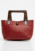 STYLE REPUBLIC - Woven tote bag - red