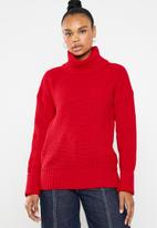 Superbalist - Chunky roll neck - red