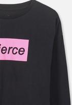 Cotton On - Penelope long sleeve tee - black & pink