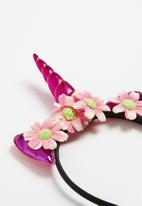 POP CANDY - Unicorn headband with flower detail - pink