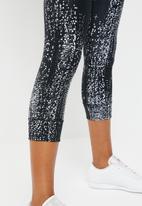 Reebok - Os lux 3/4 tights - black & white