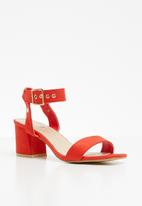 STYLE REPUBLIC - Ankle-strap heels - coral