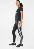 adidas Performance - 3 Stripes training tights - black