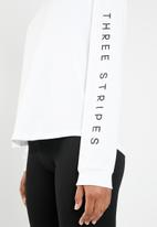 adidas - S25 long sleeve training tee - white