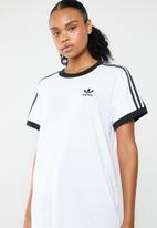 adidas Originals - 3 Stripe tee - white & black