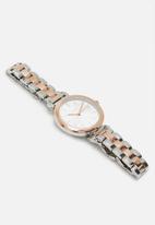 DKNY - DKNY Ellington dial ladies watch - silver & rose gold