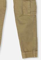 Cotton On - Joe cuffed pant - brown