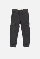 Cotton On - Joe cuffed pant - black