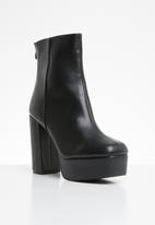 Missguided - Extreme platform ankle boot - black