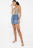 GUESS - Leopard print bodysuit - brown