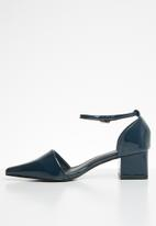 STYLE REPUBLIC - Ankle strap pointy heel - navy