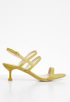 Miss Black - Della heel - yellow