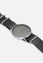 Superbalist - Charlie leather watch - black