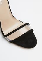 Public Desire - Brink perspex straps block heel - black