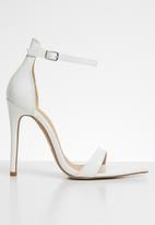 Public Desire - Ace sharp point toe barely there heel - white