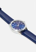 Superbalist - Trace leather strap - blue & silver