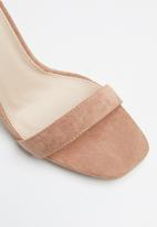 Public Desire - Crown square toe barely there heel - pink