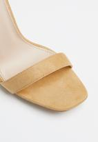 Public Desire - Crown square toe barely there heel - yellow