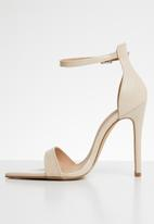 Public Desire - Ace barely there heel - beige