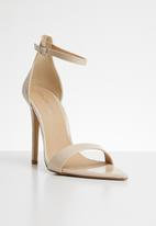 Public Desire - Ace sharp point toe barely there heel - beige