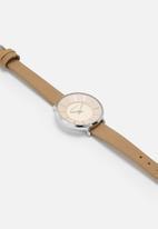 Superbalist - Karen leather watch - beige/pink/silver