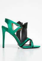 MHNY by Madison - Brittany heel - green & black