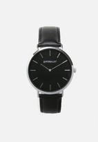 Superbalist - Lucas leather watch - black & silver