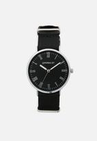 Superbalist - Brett nylon strap watch - black