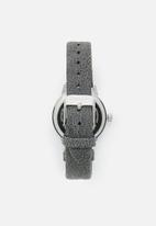 Superbalist - Chrissy marbled leather strap - grey & silver