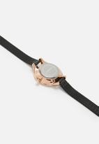 Superbalist - Cara mesh watch - black & rose gold