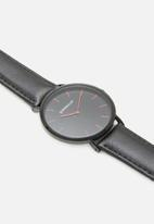 Superbalist - Lucas leather watch - black & red