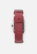 Superbalist - Square face leather watch - red