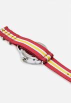 Superbalist - Caleb nylon strap watch - yellow red & white