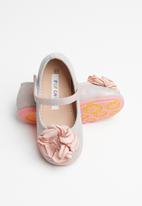 POP CANDY - Girls flower pumps - pink & silver