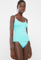 PIHA - Solid tankini - turquoise