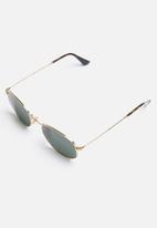 Ray-Ban - Hexagonal sunglasses 51mm - gold & green