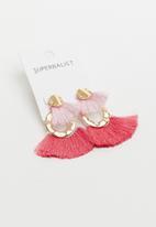 Superbalist - Clare tassel earrings - gold & pink