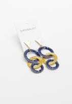Superbalist - Michelle link earrings - blue & yellow
