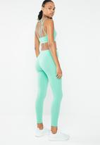 South Beach  - Mesh insertion strappy back detail seamless sports bra - turquoise