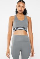 South Beach  - Open mesh back detail sports bra - grey
