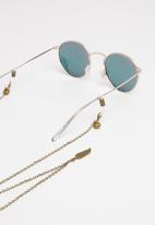 Superbalist - Mystic feather detail sunglasses chain - bronze