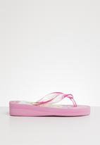Character Fashion - Barbie wedge flip flops - pink