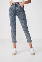 Cotton On - High rise 90's stretch jeans - blue