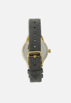Superbalist - Chrissy marbled leather strap - grey & gold