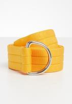 Superbalist - Keegan canvas belt - yellow