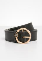 Superbalist - Round buckle belt - black