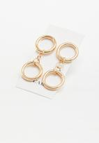 ByCARA - Double circle drops - bronze
